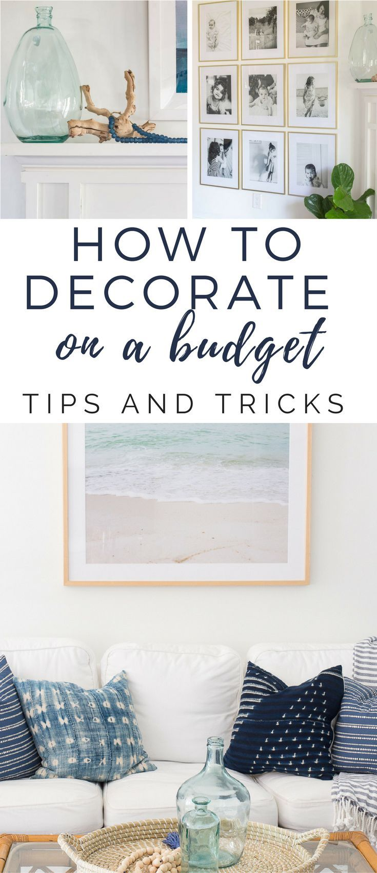 How to Decorate on a Budget - tips and tricks from a thrifty person