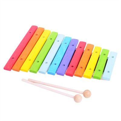 Bigjigs Toys Detské hudobné nástroje - Drevený xylofón