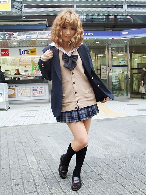 ○•SCHOOL GiRL~•○ school uniform - - cardigan - - bow tie - - blazer - - cute - - kawaii: