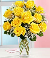 The bright, sunny color of yellow roses evokes a feeling of warmth and happiness. The warm feelings associated with the yellow rose are often akin to those shared with a true friend. As such, the yellow rose is an ideal symbol for joy and friendship.