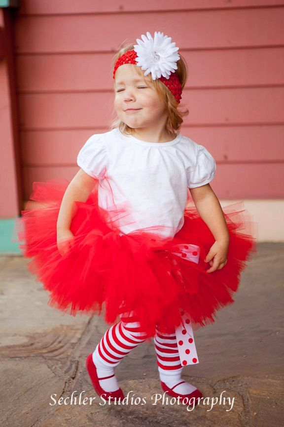 RED Christmas Tutu Baby Red Newborn With And White Reversible Bow Photography Prop