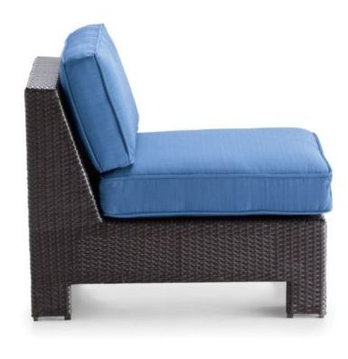 Sit comfy on your patio in a contemporary slipper chair.