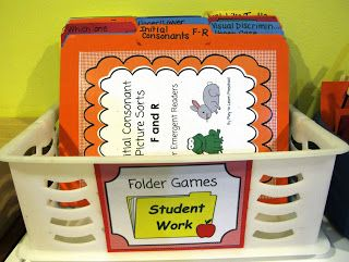 Pre-K Morning Work folder games to address phonological awareness skills