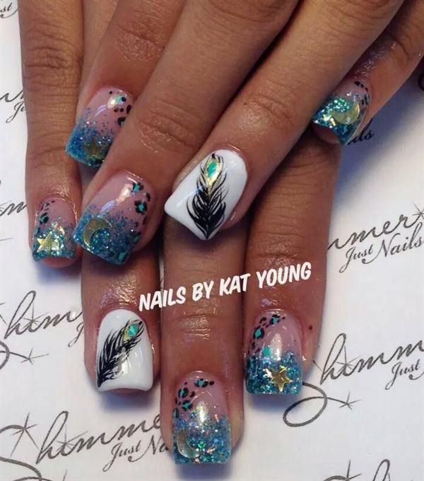 Day 321: Hand-Painted Mix Nail Art - - NAILS Magazine