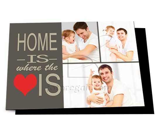 Cartolina magnetica Home is here