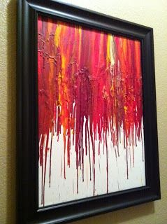 Artful Expression: Did you think crayons can only be used in one way? Think again!