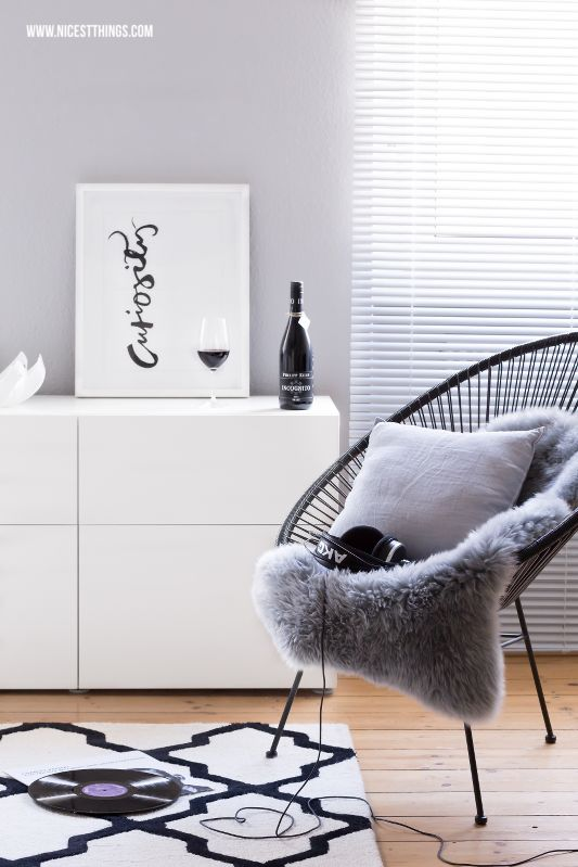 Black Acapulco Chair and Besta Sideboard #Hejvin