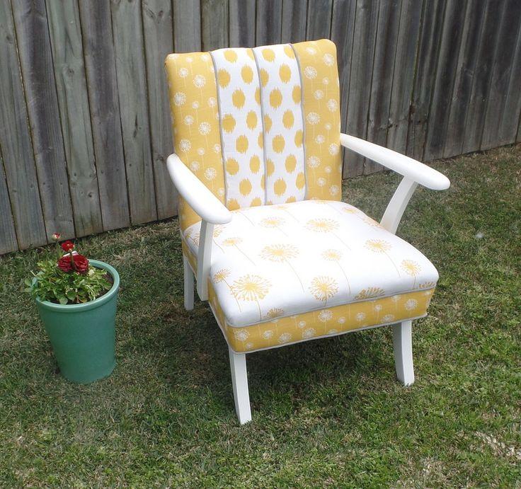 1970's retro australian made , channel back chair.