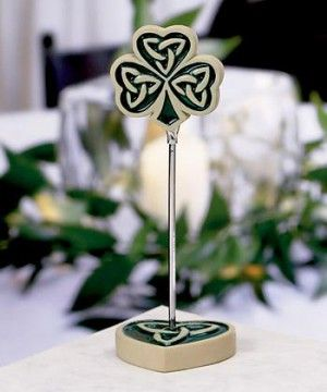 love knot placecard holders at