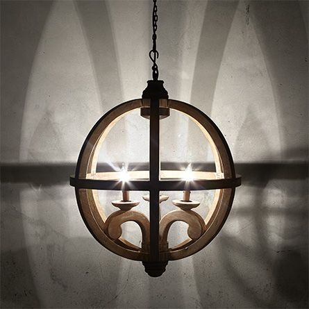 Vanves 24 wood chandelier in natural for the home for Natural wood chandelier