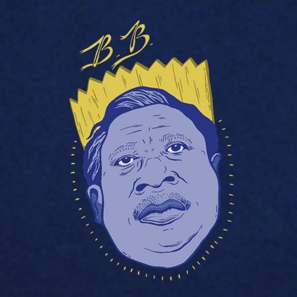 BB King T-Shirt Design. Available in Mens, Womens and Kids sizes.