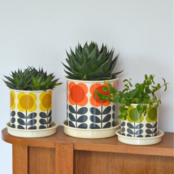 cache-pot petit Big Spot Orla Kiely - deco-graphic.com