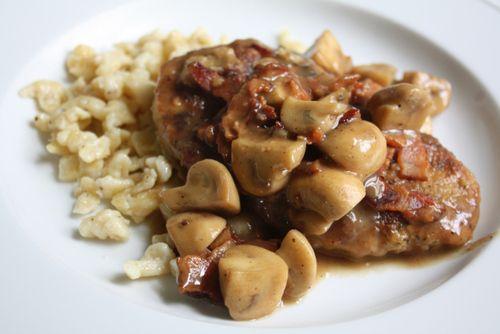 Schnitzel and Spaetzle recipe.