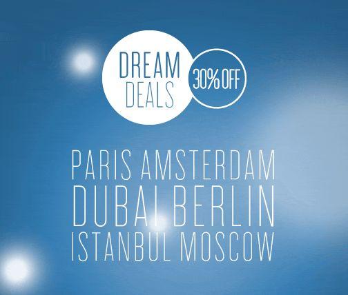 """Paryż, Berlin, Sofia…  Ponad 290 hoteli w Europie, na Bliskim Wschodzie i w Afryce bierze udział w promocji. Dowiedź się więcej w jaki sposób uzyskać zniżkę do 30% podczas kolejnej wizyty w ramach promocji """"Dream Deals"""": http://dreamdeals.radissonblu.com/pl  #DreamDeals #RadissonBlu"""