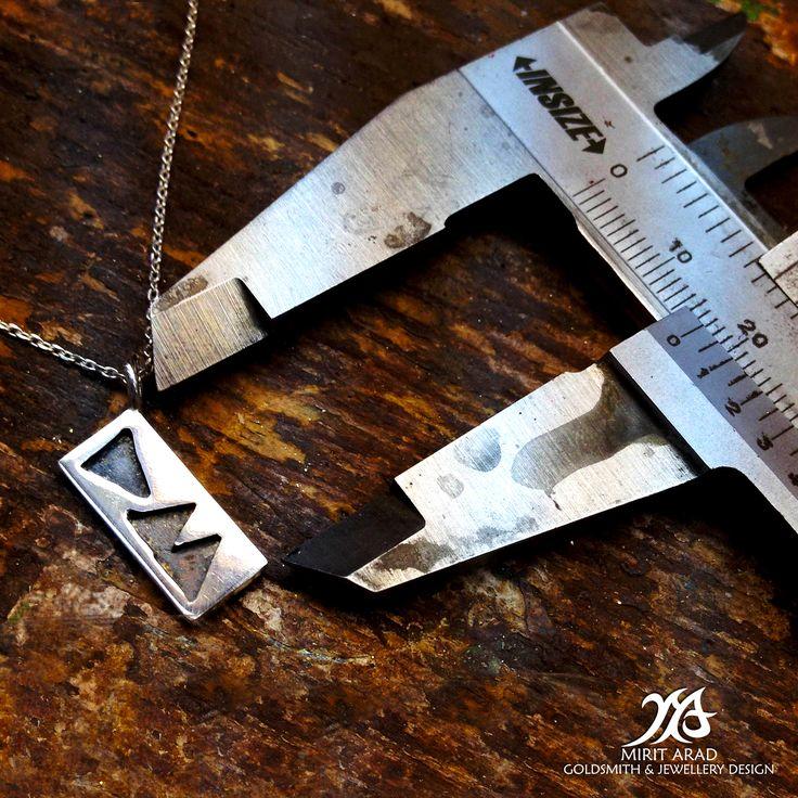 "Depeche Mode ""Delta Machine"" sterling silver pendant. Handmade by Mirit Arad."