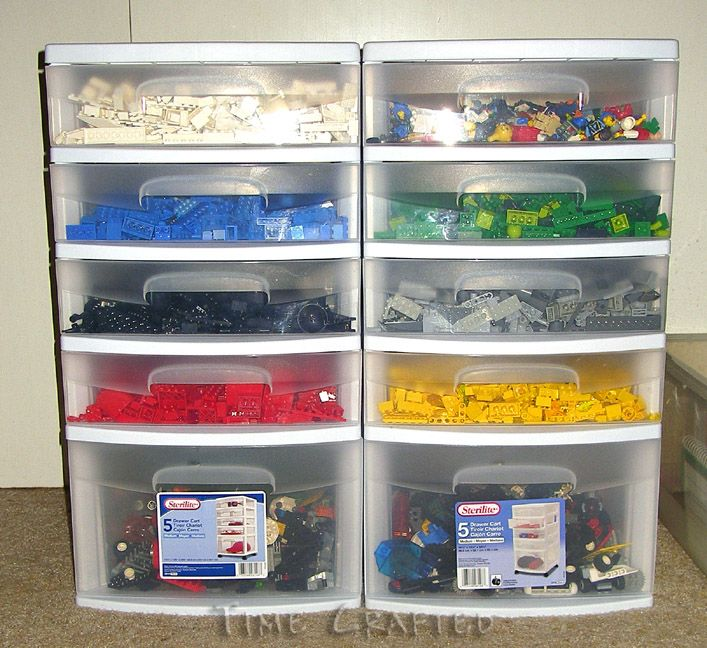 Time Crafted: From Lego Landslide to Organized! // The boys room.
