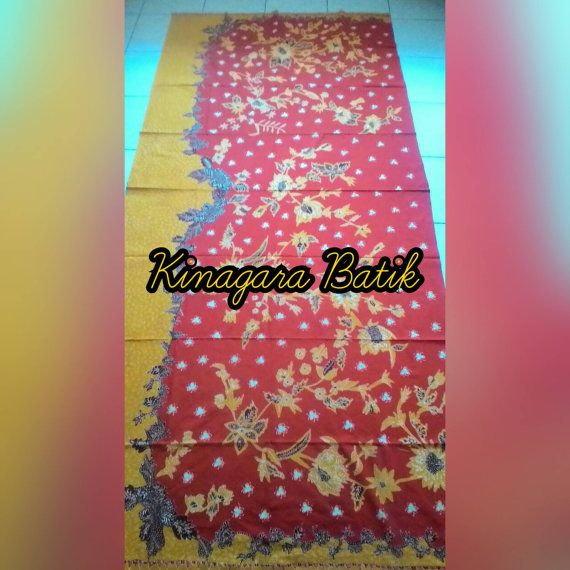 Check out this item in my Etsy shop https://www.etsy.com/listing/488201556/hand-written-red-mustard-indonesia-batik