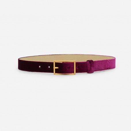 Prune Basic Buckle Belt | CHARLES & KEITH