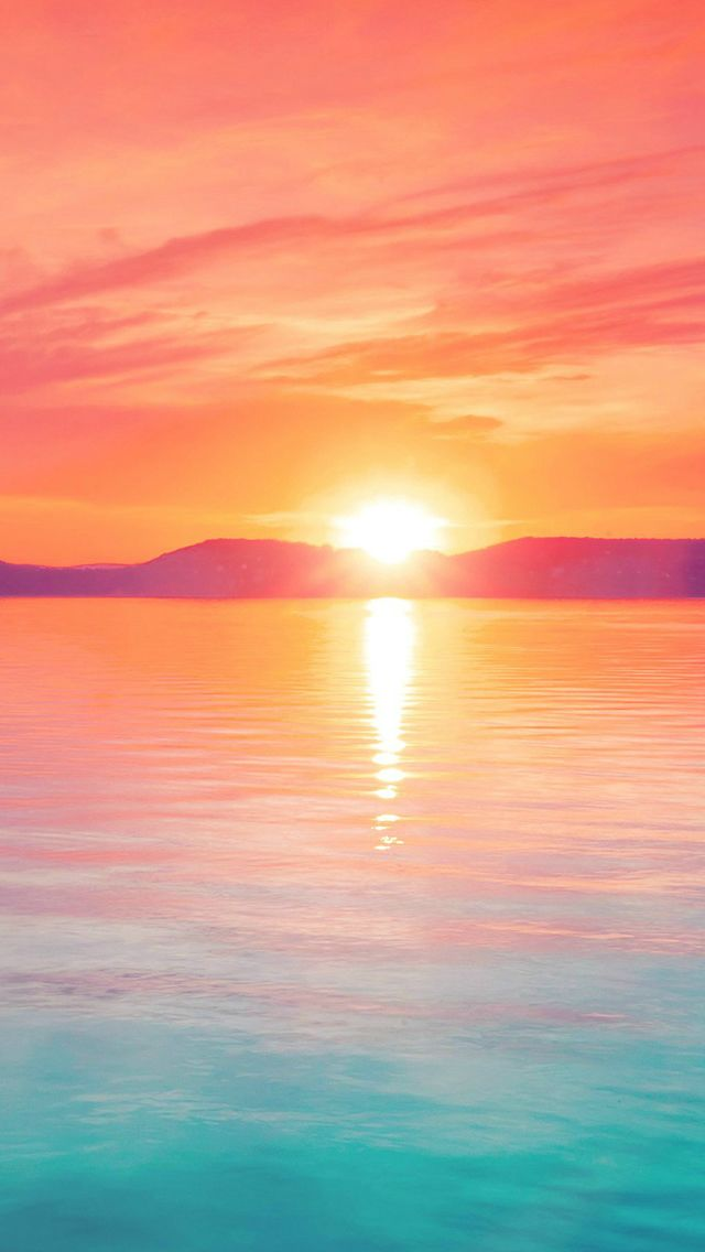 Sunset Night Lake Water Sky Red Flare #iPhone #5s #wallpaper