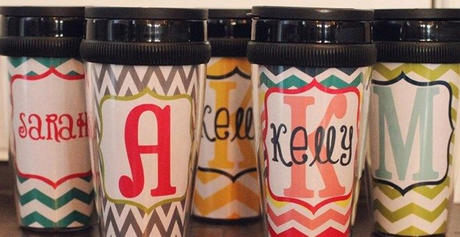 PERSONALIZED COFFEE TRAVELING MUGS - 24 OPTIONS!
