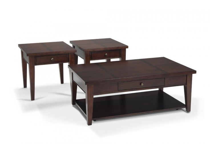 Transitional Coffee Table & 2 End Tables