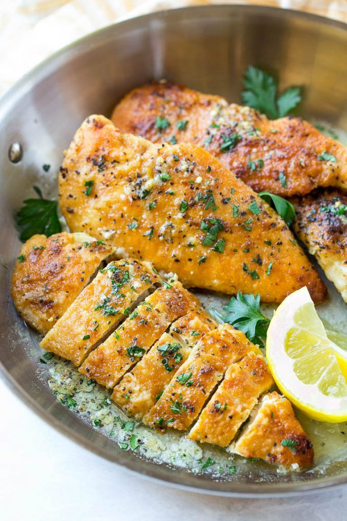 This recipe for lemon pepper chicken with butter sauce is a simple recipe that's ready in just 20 minutes! The perfect dinner for a busy weeknight.