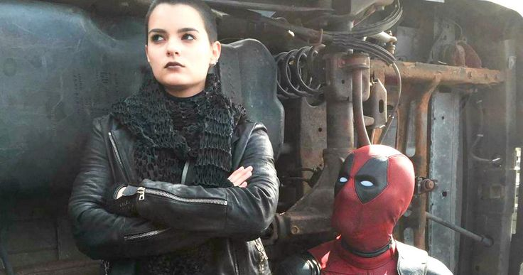 'Deadpool': First Look at Negasonic Teenage Warhead! -- Ryan Reynolds shares a first look at actress Brianna Hildebrand as 'X-Men' mutant Negasonic Teenage Warhead. -- http://www.movieweb.com/deadpool-movie-photo-negasonic-teenage-warhead