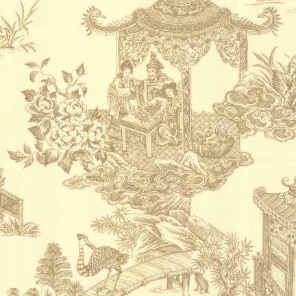 Robert Kaufman Fabrics: EK-3060-8 IVR/TAUP from Oriental Traditions Original Collection