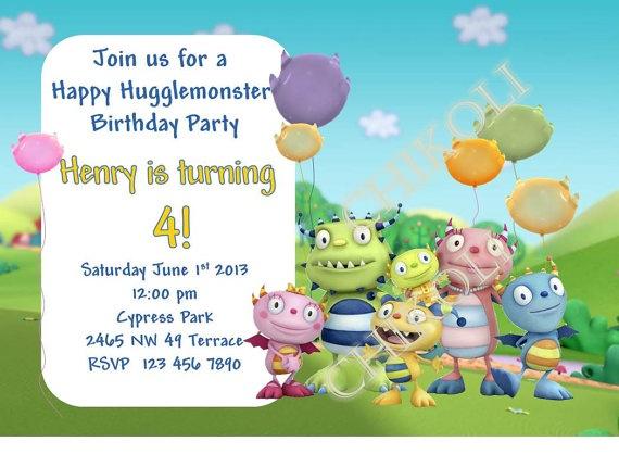henry Hugglemonster birthday party | DIY Henry Hugglemonster Birthday Party Invitation by Chikoli