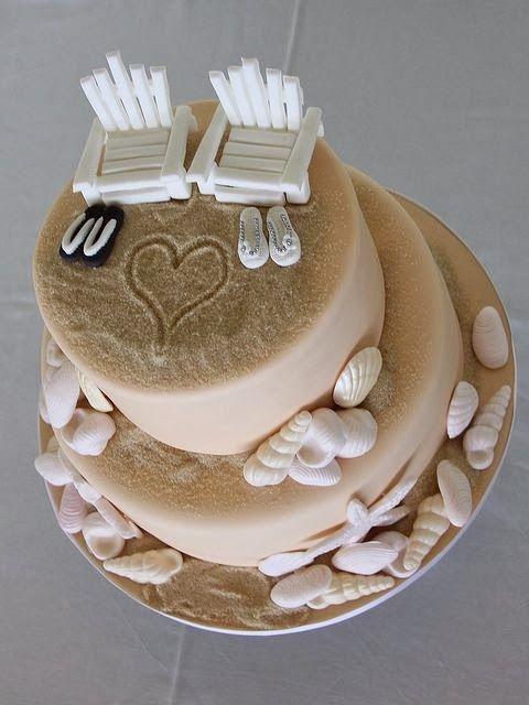 Beach Themed Wedding Cakes