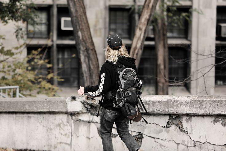 Skater, Ung, Teen, Tonåring, Promenader, Livsstil