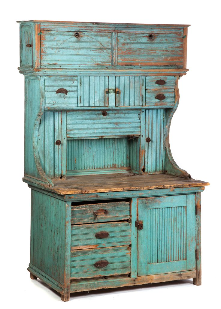 AMERICAN KITCHEN CUPBOARD. Late 19th-early 20th c                                                                                                                                                                                 More
