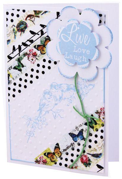 MT581 Live Love Laugh Washi Card