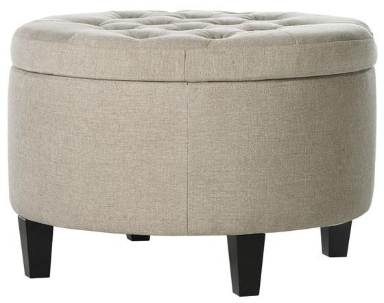 Emma Tufted Storage Ottoman - Ottomans - Living Room - Furniture | HomeDecorators.com