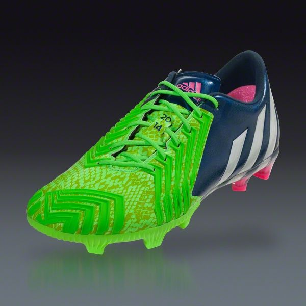 ac4ff690b6d9 ... adidas Predator Instinct FG - Rich Blue Running White Neon Green Firm  Ground Soccer . ...