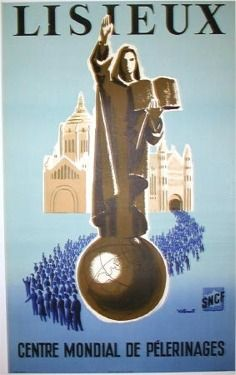 Lisieux  Item #: TRV-1444  Category: Travel  Artist: Bernard Villemot  Circa: 1954  Origin: France  Dim: 25 x 40 in.
