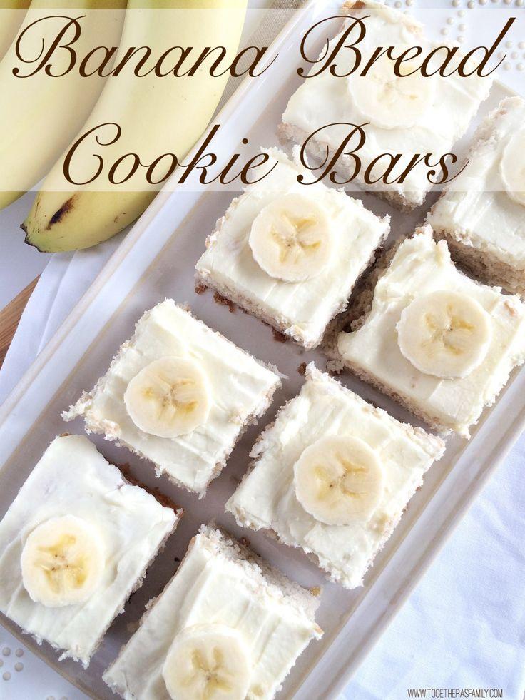 2 Ingredient Banana Bread Cookie Bars