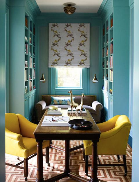 One of 9 Surprising Color Combinations We Bet You Haven't Thought Of via @PureWow - TURQUOISE AND MUSTARD (=)