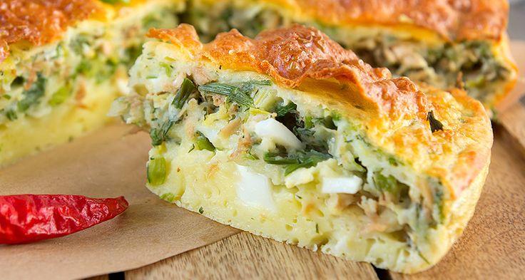 """Заливной овощной пирог с сыром - Лучшие рецепты с сыром ТМ Шостка. Готовьте вкусно Заливний овочевий пиріг з сиром с сыром """"Шостка""""!"""
