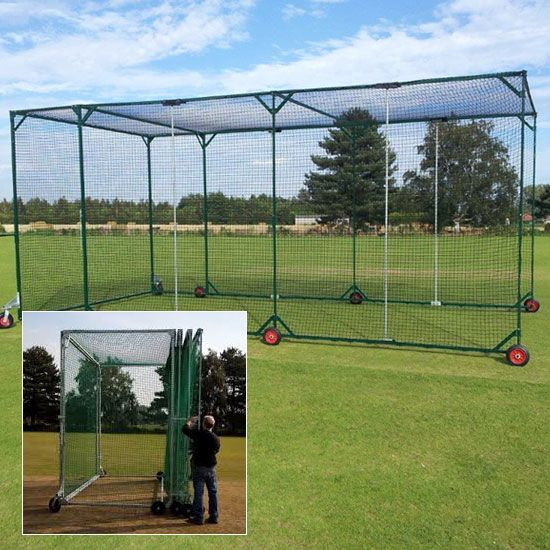 The Combi Mobile Cricket Cage Is Ideal For Locations That Require Portability With Quick Storage A Ful With Images Batting Cage Backyard Backyard Sports Backyard Baseball