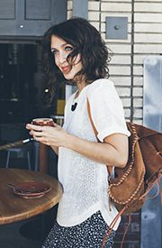 knit top (hair too)
