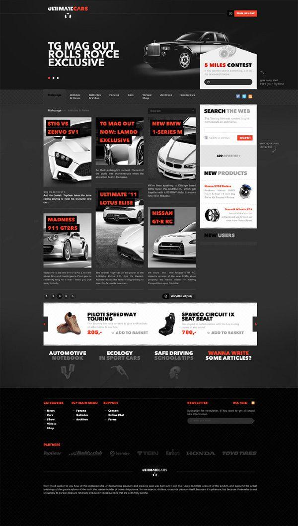 Ultimate Sport Cars by Lukasz Ratajczyk, via Behance #web #design   repinned by www.BlickeDeeler.de