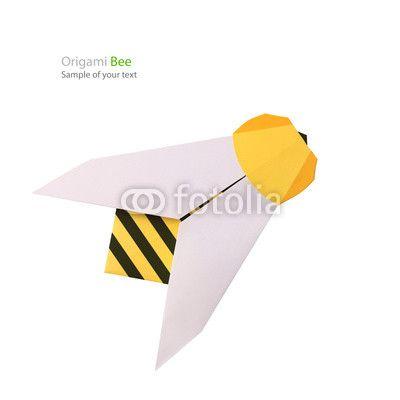 Origami paper bee