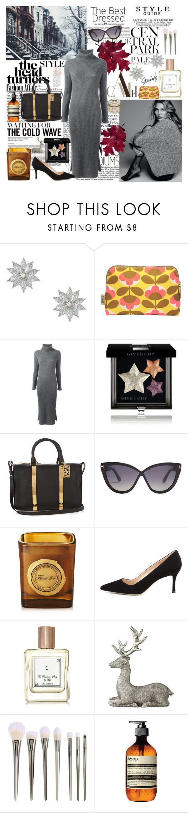 """The cold wave"" by carlamar ❤ liked on Polyvore featuring claire's, Orla Kiely, Alice + Olivia, Givenchy, Sophie Hulme, Tom Ford, The Perfumer's Story by Azzi, Manolo Blahnik, Lene Bjerre and Lara"