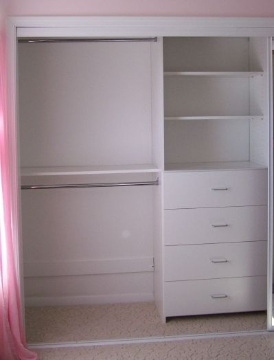 Add a shoe shelf/rack on bottom and this is the ideal closet configuration for a teen.
