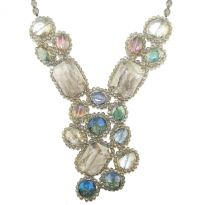 Iridescent Pastel Crystal Necklace - Nakamol