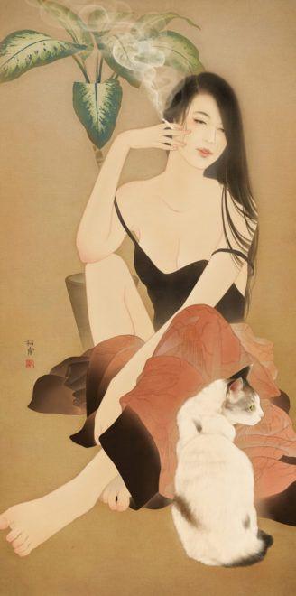 本気で惚れちゃう!溢れ出る女性の魅力を美人画に込める、松浦シオリさんの作品がステキすぎ | アート 日本画・浮世絵 - Japaaan 日本文化と今をつなぐ