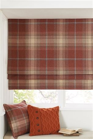 Red Check Woven Roman Blind from Next