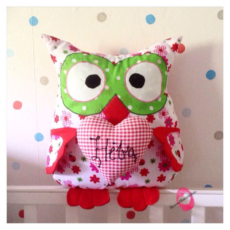 Personalised Owl Cushion/Name Cushion/Name Pillow/Owl Pillow/Baby Gift  by YasminsMadewithLove on Etsy https://www.etsy.com/listing/234981257/personalised-owl-cushionname-cushionname