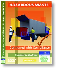 'Hazardous Waste - Consigned with Compliance' DVD  Short version of 'Decoding the Regulations' produced for training operators and supervisors with responsibility for consignment paperwork and ensuring hazardous waste is not mixed.  Running time: 16 minutes  DVD £140 + VAT